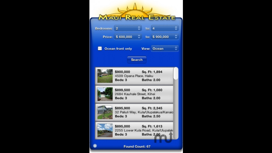 Maui Real Estate Widget for Mac - review, screenshots