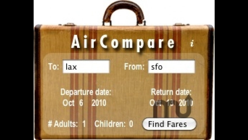 AirCompare for Mac - review, screenshots