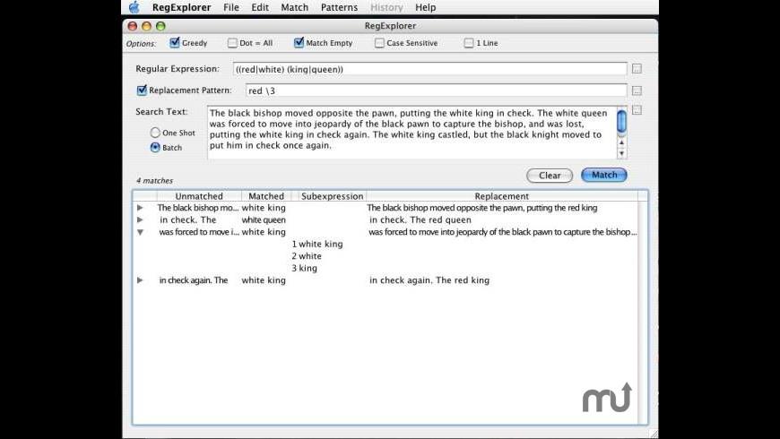 RegExplorer for Mac - review, screenshots