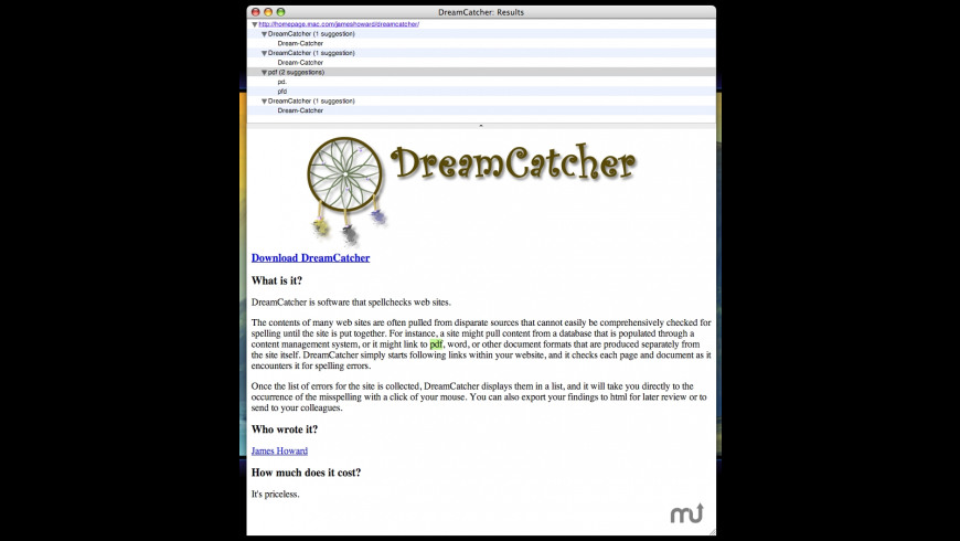 DreamCatcher for Mac - review, screenshots