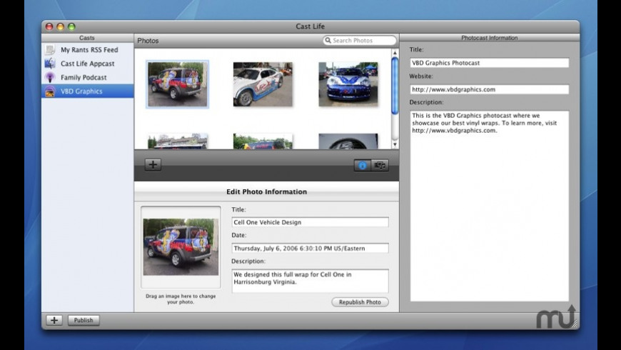 Cast Life for Mac - review, screenshots