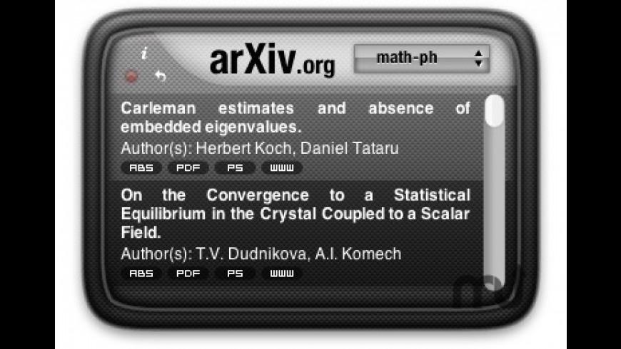 arXiv Widget for Mac - review, screenshots