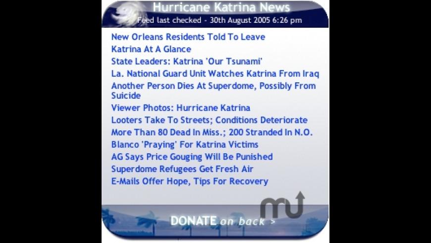 Hurricane Rita/Katrina News & Donate for Mac - review, screenshots