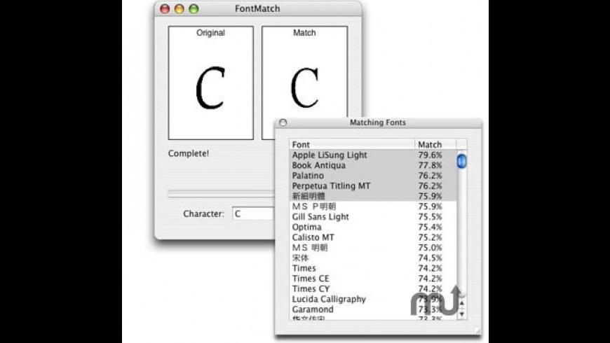 FontMatch for Mac - review, screenshots