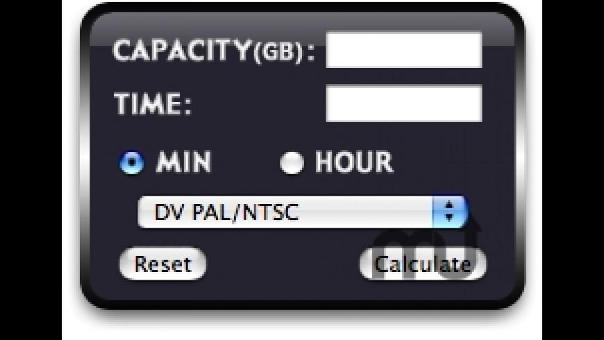 VideoStorageCalculator for Mac - review, screenshots
