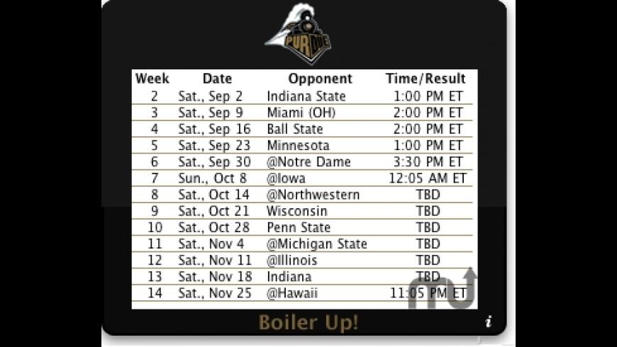 Purdue Football for Mac - review, screenshots