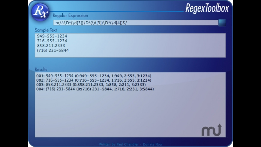 RegexToolbox for Mac - review, screenshots