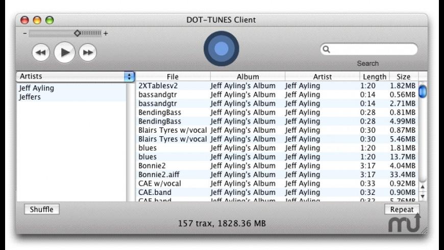 DOT-TUNES Client for Mac - review, screenshots