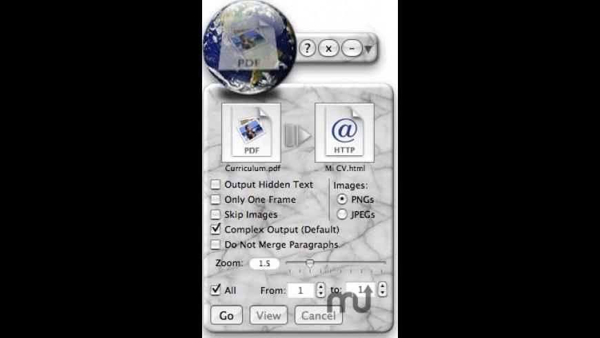 PDFWebX for Mac - review, screenshots