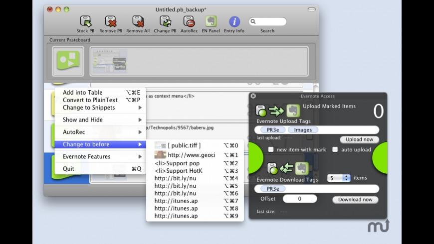 Pasteboard Recorder 3E for Mac - review, screenshots