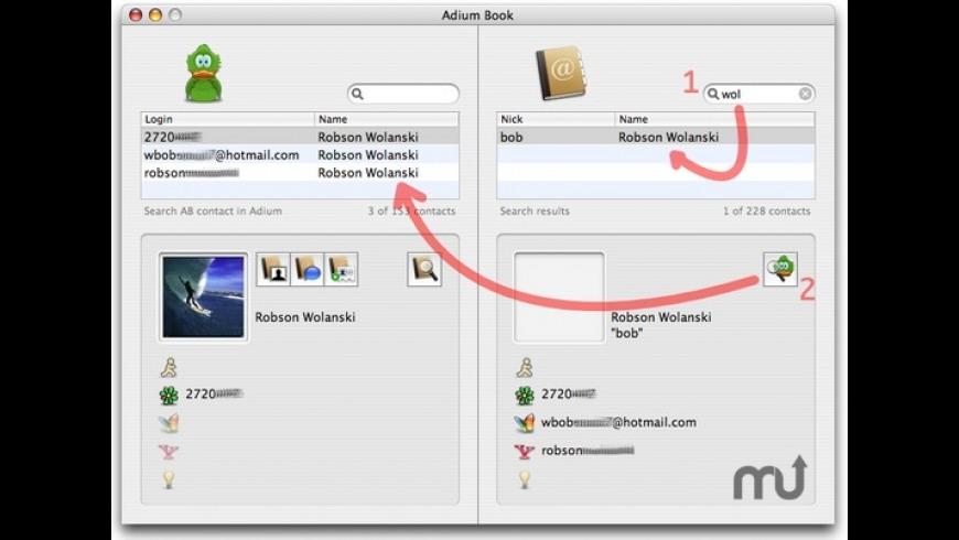 AdiumBook for Mac - review, screenshots