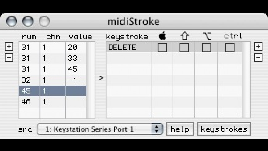 midiStroke for Mac - review, screenshots