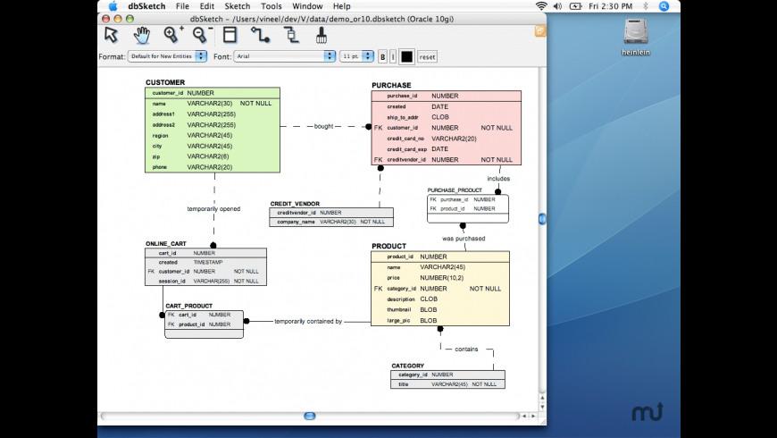 dbSketch for Mac - review, screenshots