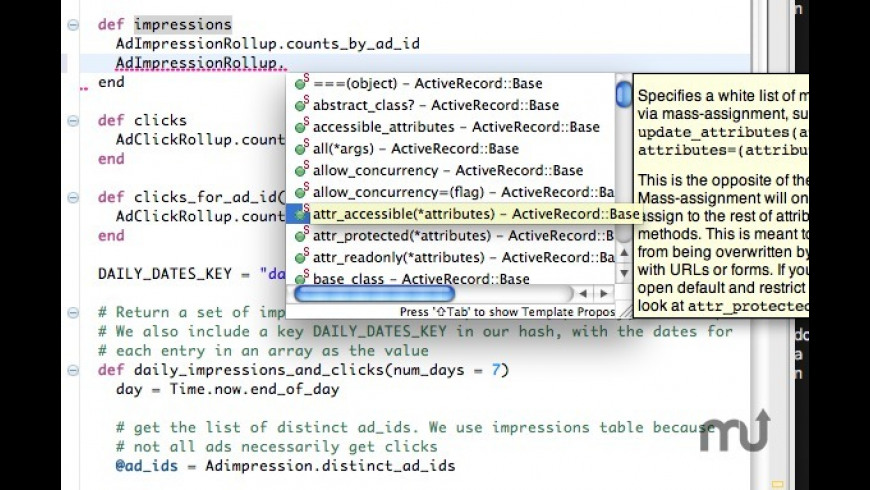 RadRails for Mac - review, screenshots