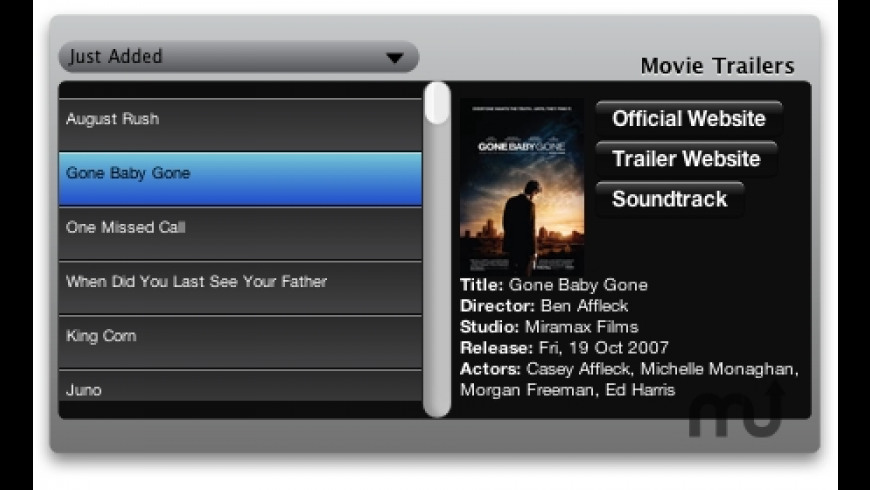 Movie Trailers for Mac - review, screenshots