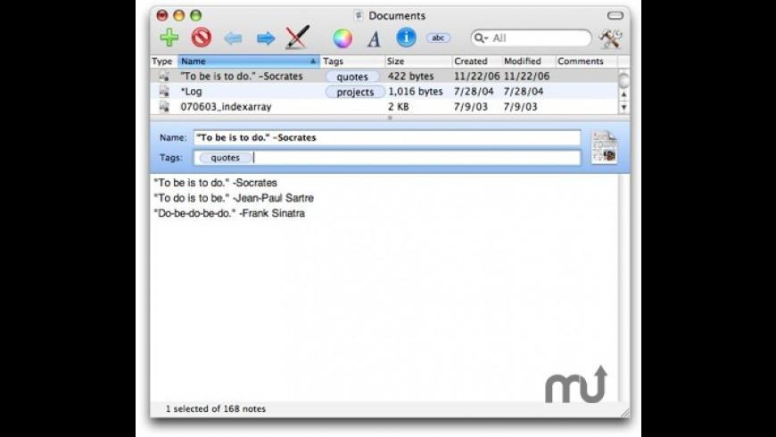 Notae for Mac - review, screenshots