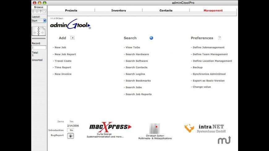 adminGtool Basic for Mac - review, screenshots