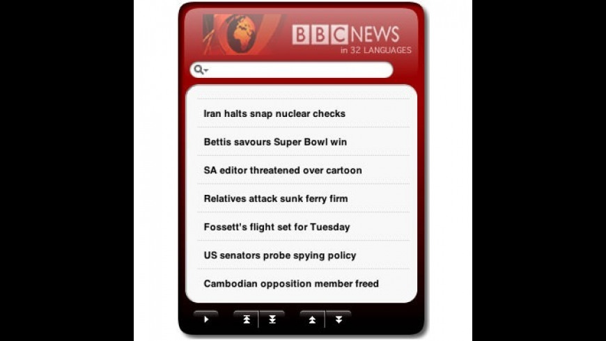 BBC News Widget + Sports for Mac - review, screenshots