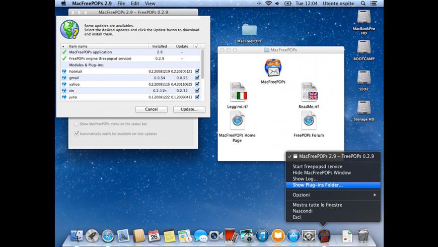 MacFreePOPs for Mac - review, screenshots