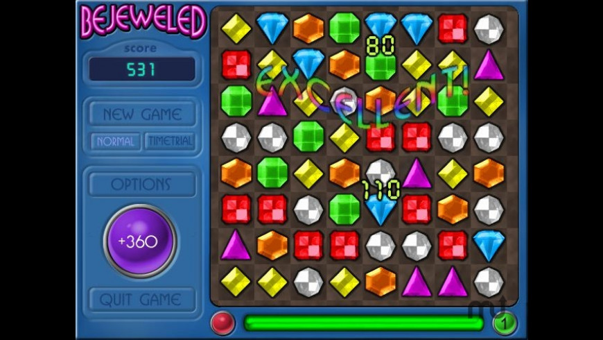 Bejeweled Deluxe for Mac - review, screenshots