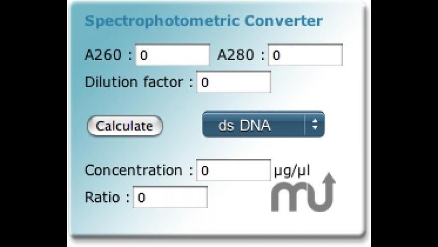 SpectroConverter Widget for Mac - review, screenshots