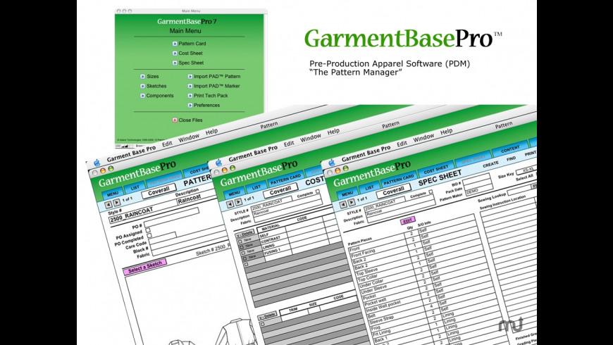 Garment Base Pro for Mac - review, screenshots
