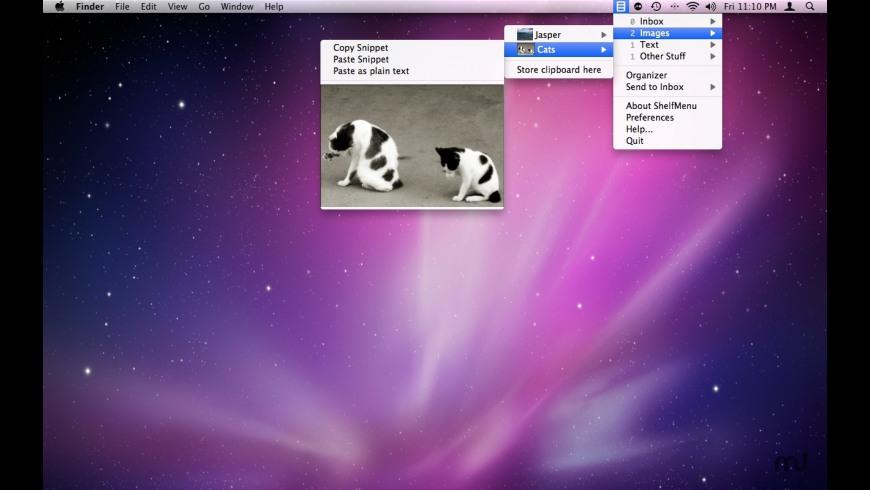 ShelfMenu for Mac - review, screenshots