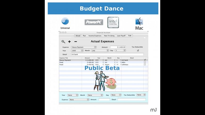 Budget Dance for Mac - review, screenshots