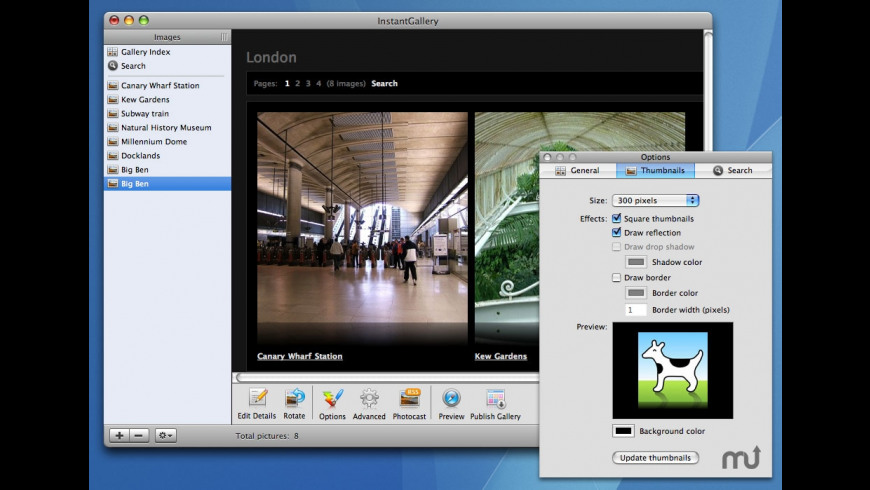 InstantGallery for Mac - review, screenshots