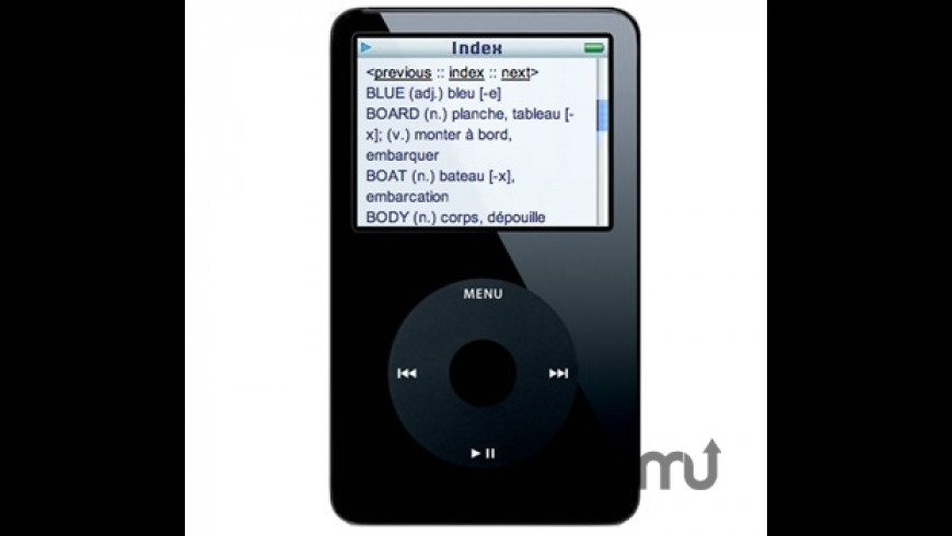 Accio Dictionary for iPod for Mac - review, screenshots