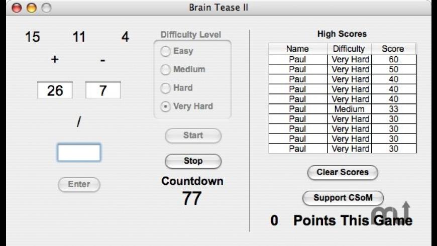 Brain Tease II for Mac - review, screenshots