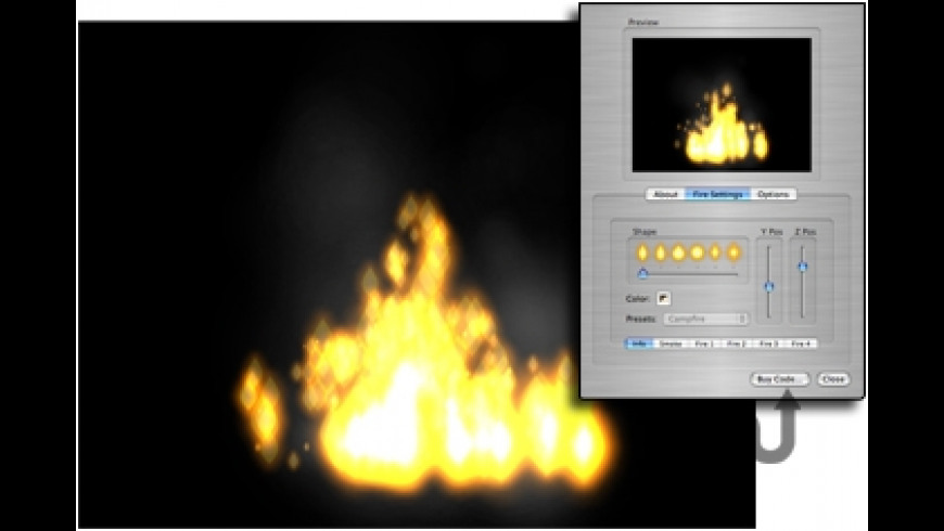 Campfirez Screensaver for Mac - review, screenshots