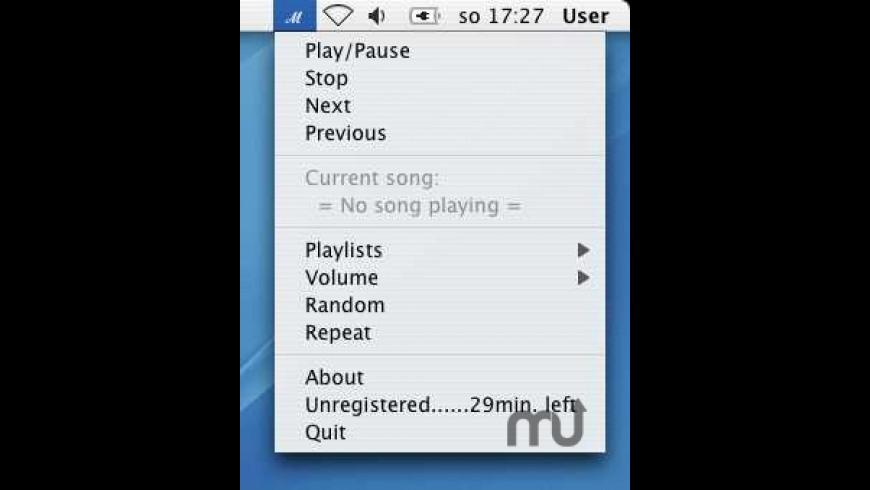 MenuMusic for Mac - review, screenshots