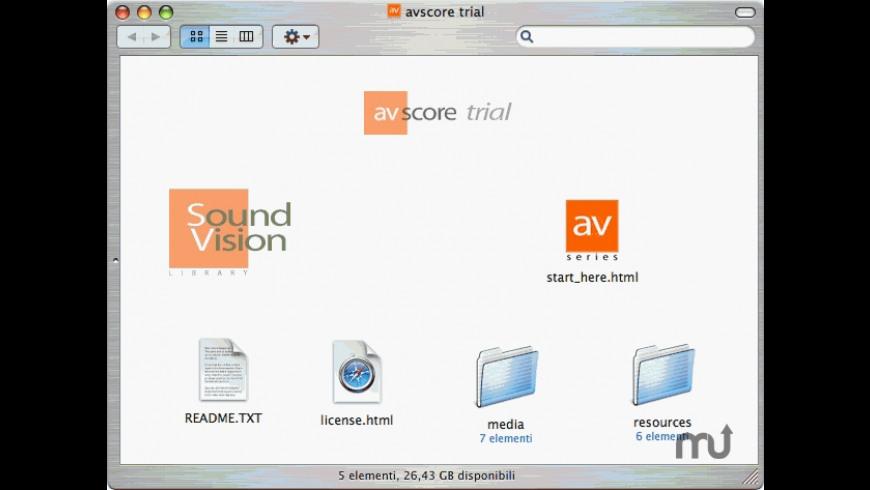 avscore for Mac - review, screenshots