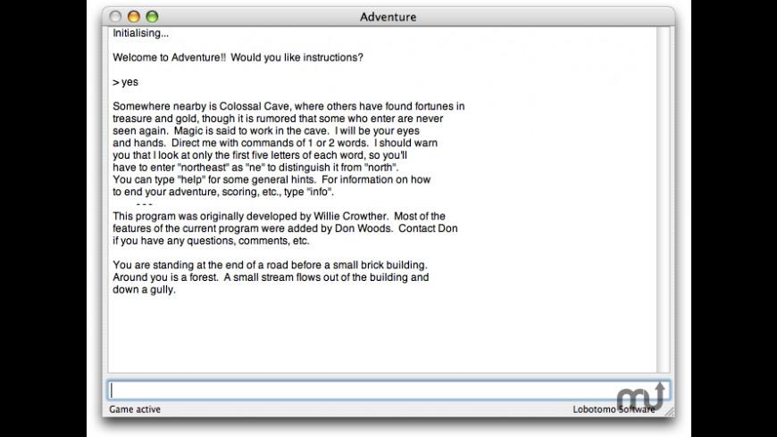 Adventure for Mac - review, screenshots