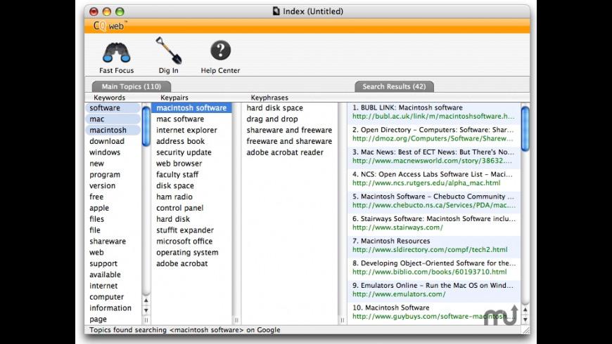 CQ web for Mac - review, screenshots