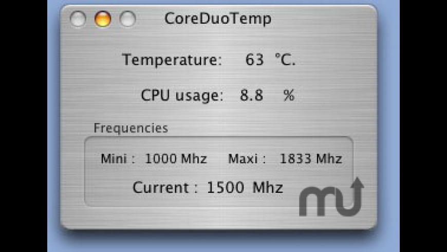 CoreDuoTemp for Mac - review, screenshots