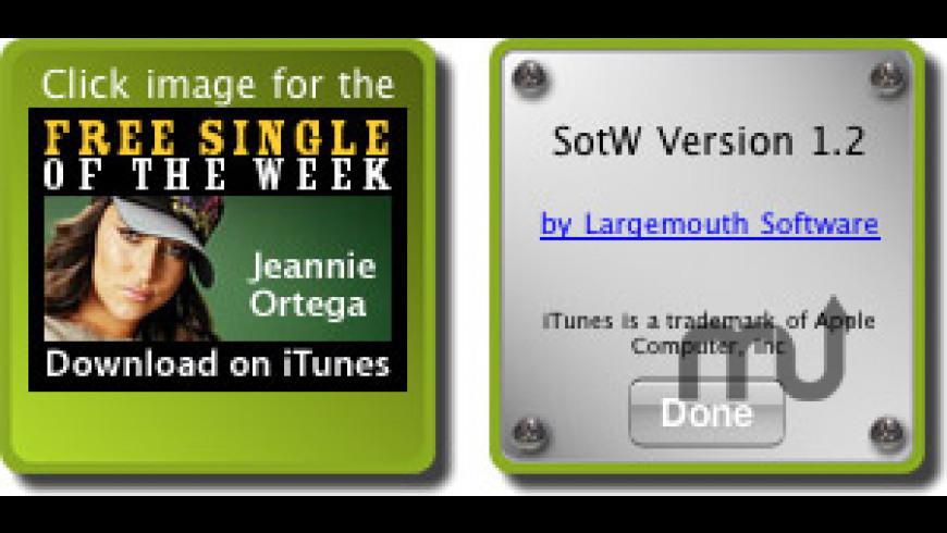 Single of the Week Widget for Mac - review, screenshots