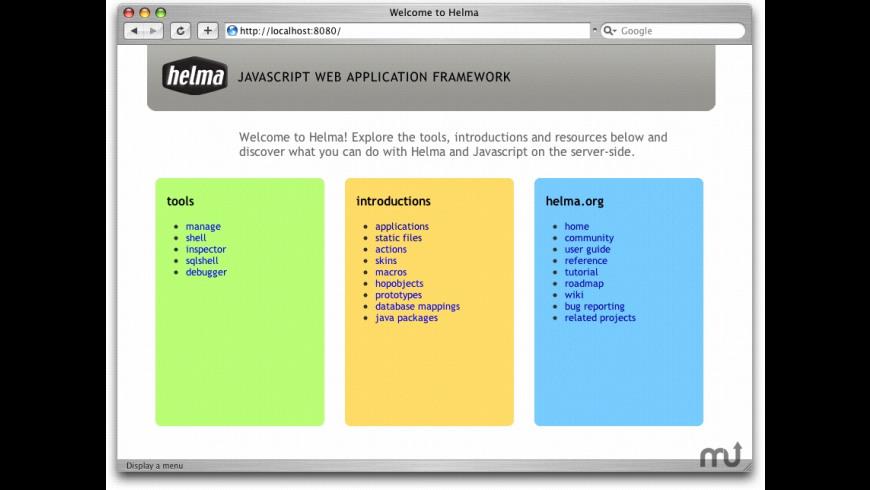 Helma for Mac - review, screenshots