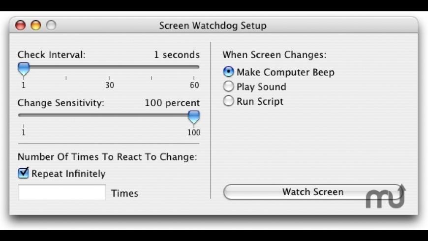 Screen Watchdog for Mac - review, screenshots