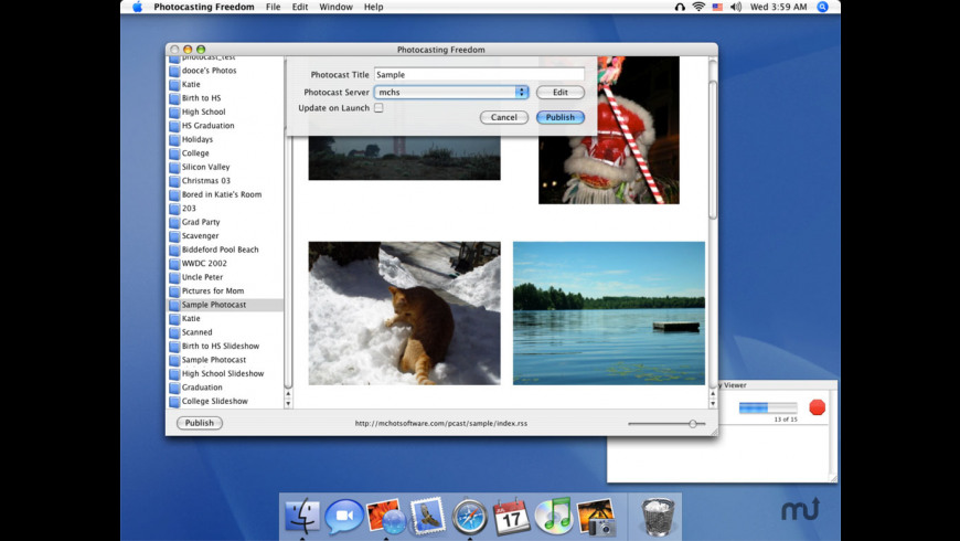 Photocasting Freedom for Mac - review, screenshots