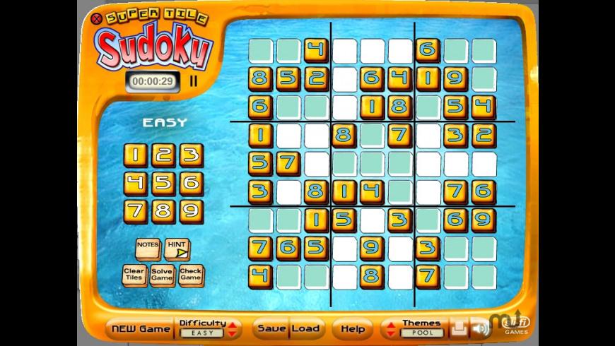 Super Tile Sudoku for Mac - review, screenshots