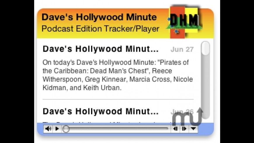 Dave's Hollywood Minute for Mac - review, screenshots