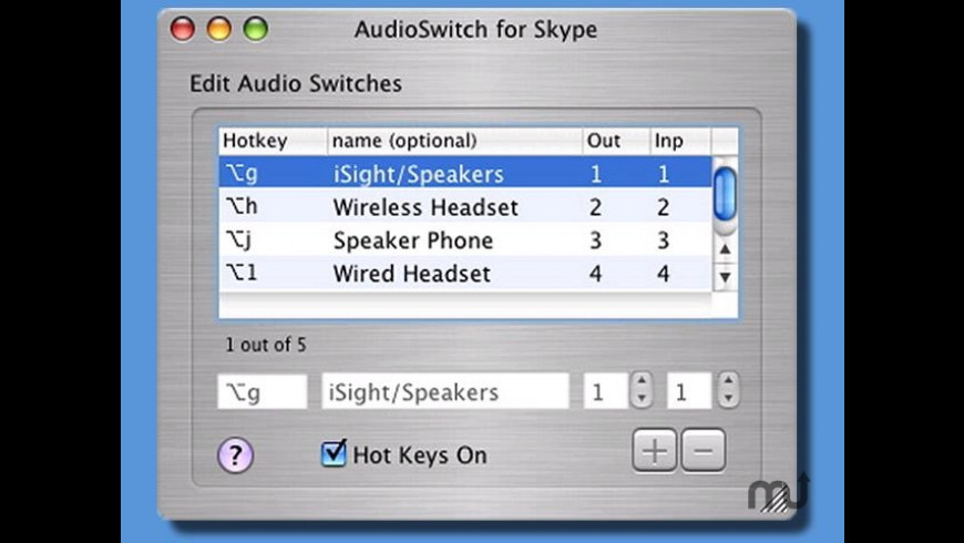 AudioSwitch for Skype for Mac - review, screenshots
