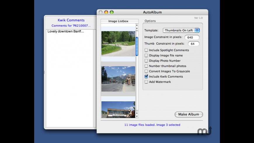 AutoAlbum for Mac - review, screenshots