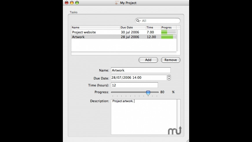 MProjectManager for Mac - review, screenshots