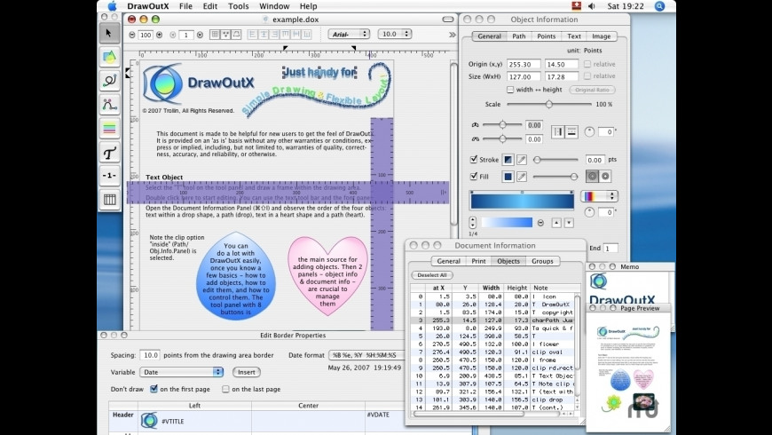 DrawOutX for Mac - review, screenshots