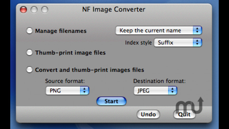 NF Image Converter for Mac - review, screenshots
