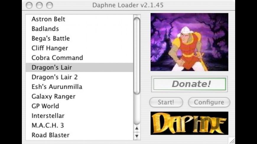 DAPHNE for Mac - review, screenshots
