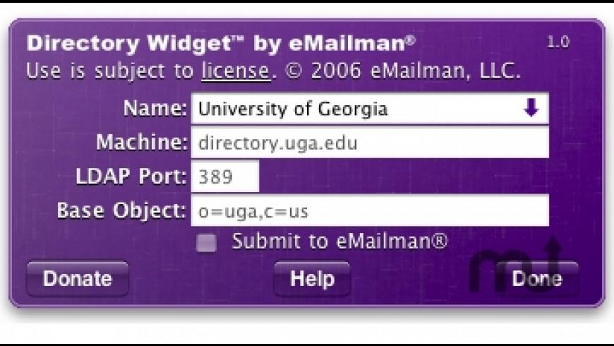 Directory Widget for Mac - review, screenshots
